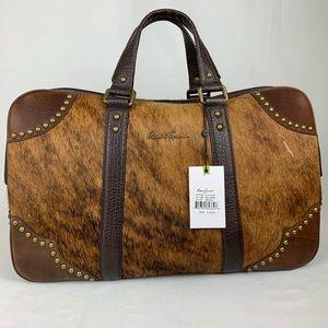 Robert Graham Wallace Hair on Leather Duffle Bag